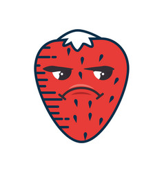 Strawberry cartoon smiley fruit vector