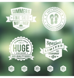 Summer Sale Vintage Badges Set vector