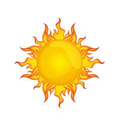 sun isolated summer icon design vector image