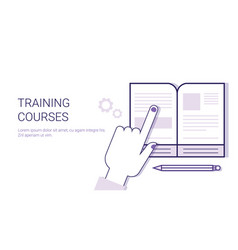 Training courses online education business concept vector