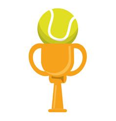 Trophy tennis ball winner vector