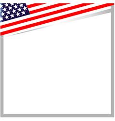 usa flag corner frame border vector image