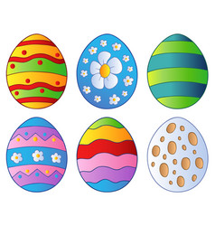 various easter eggs vector image