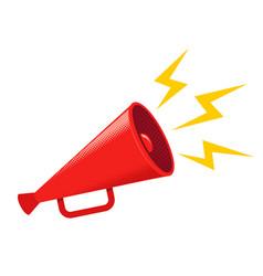 vintage red megaphone vector image
