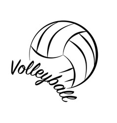Volleyball text sign vector