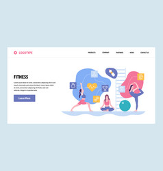 Web site gradient design template sport vector