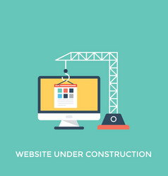 Website under construction vector