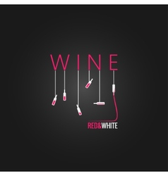 wine concept design background vector image