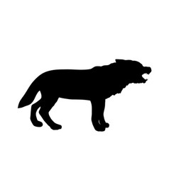 Wolf silhouette isolated vector