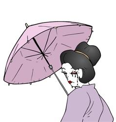 Artistic geisha vector