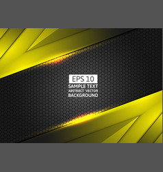 black and yellow geometric abstract background vector image vector image