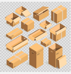 carton paper box or cardboard post package vector image vector image