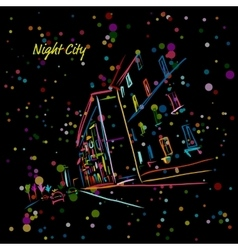 Night city street for your design vector image