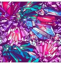sketching of crystals vector image vector image