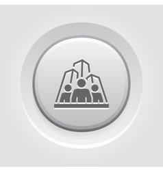 Business Team Icon Grey Button Design vector image vector image