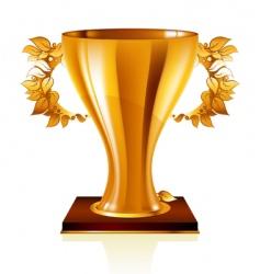 goblet gold vector image