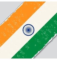 Indian grunge flag vector