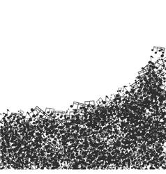 modern black music background design vector image