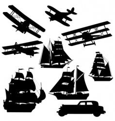 old transportation vector image