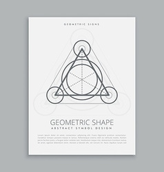 sacred lineart symbol vector image vector image