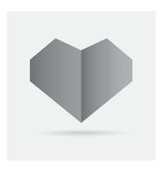 valentine love gray black heart paper craft in vector image vector image