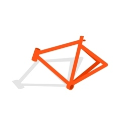 Bicycle frame icon isometric 3d style vector image