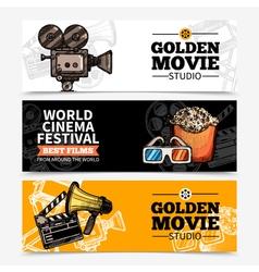 Cinema Horizontal Banners vector image vector image