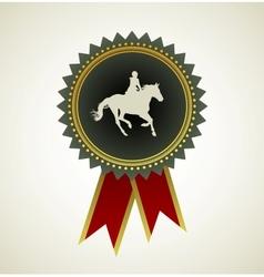 Horse symbol award rosette vector image vector image