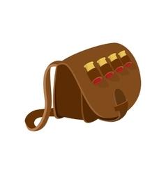Hunter leather bag cartoon icon vector