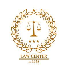 law firm office center logo design vector image
