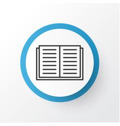 literature icon symbol premium quality isolated vector image vector image
