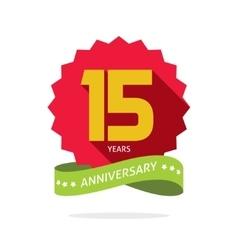 Years 15 anniversary label logo badge vector image vector image