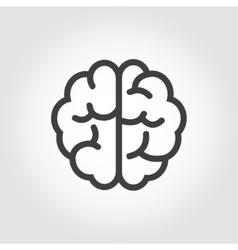 black line brain icon vector image vector image