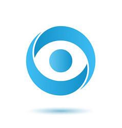 Opened eye logo media agency concept vector image vector image