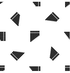 pan flute pattern seamless black vector image vector image