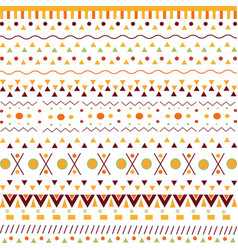 pattern with ethnic african signs on white vector image vector image