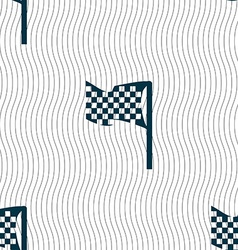 racing flag icon sign Seamless pattern with vector image