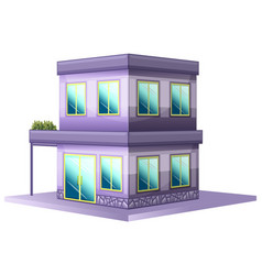 3d design for building painted in purple vector