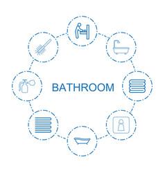 8 bathroom icons vector