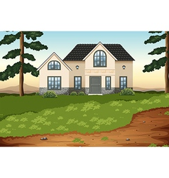A big concrete single detached house vector image