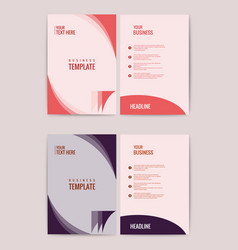 Advertisement flyer design elements modern style vector