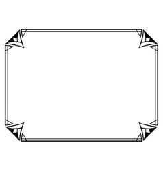 Art Deco black ornamental decorative frame vector