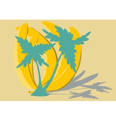 Banana trees vector