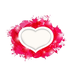 Beautiful heart for card Valentines day vector image