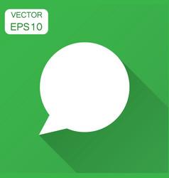 blank empty speech bubble icon in flat style vector image