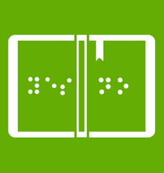 braille icon green vector image