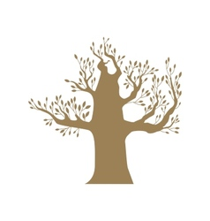 Brown big tree vector image