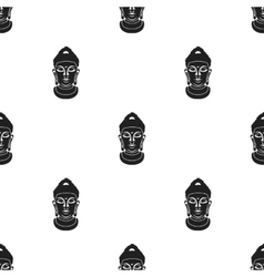 Buddha icon in black style isolated on white vector