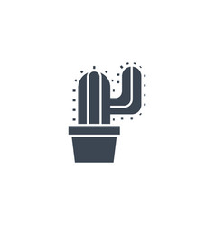 cactus related glyph icon vector image