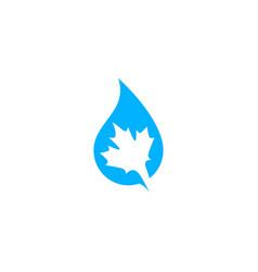 canada canadian pure water logo icon vector image
